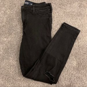 2/$20 - Hollister High Rise Black Jean Legging.